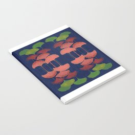 Ginkgo Leaf gouache painting design art print Notebook