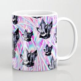Crystals On Milky Glitch Coffee Mug