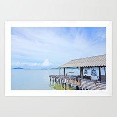 The docks of Koh Lanta Art Print
