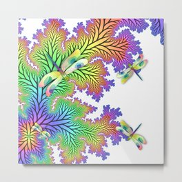 Dragonfly Forest Metal Print
