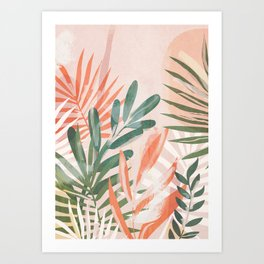 Tropical Leaves 4 Art Print