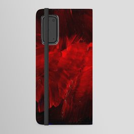 Red And Black Luxury Abstract Gothic Glam Chic by Corbin Henry Android Wallet Case