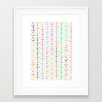 anchors Framed Art Prints featuring Anchors by Maressa Andrioli