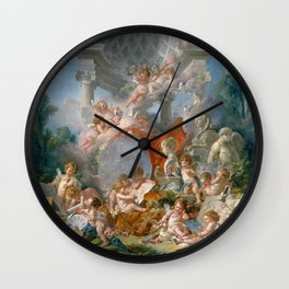 "François Boucher ""Geniuses of Arts"" Wall Clock"