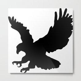 Eagle Silhouette Metal Print