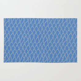 Net Blue and Grey Rug
