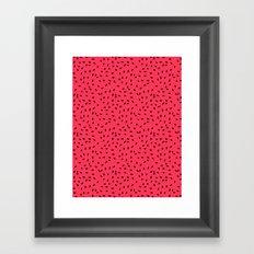 Strawberry Seeds Framed Art Print