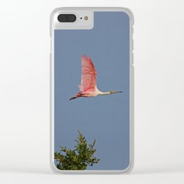 Summertime Spoonbill I Clear iPhone Case