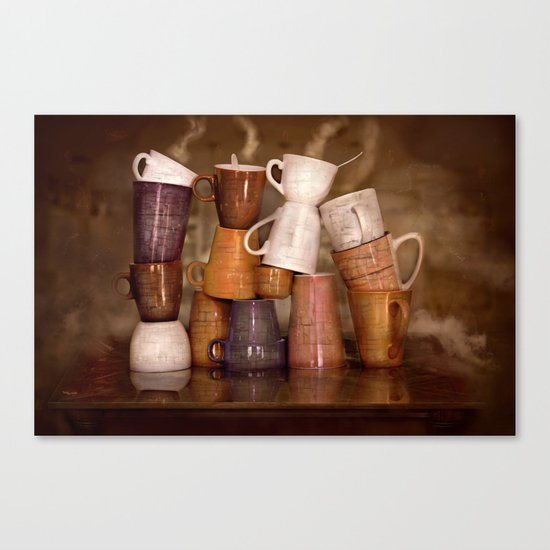 Cafehouse (without windows) Canvas Print