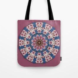 Spring blossoms, Nature Flower Mandala, Floral mandala-style Tote Bag