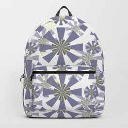 Abstract floral, geometric pattern.2 Backpack