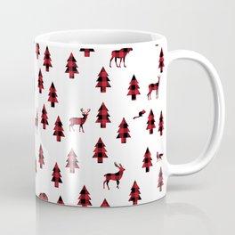 Woodland Pattern: Red Buffalo Plaid Coffee Mug