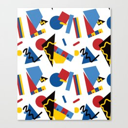 Postmodern Primary Color Party Decorations Canvas Print
