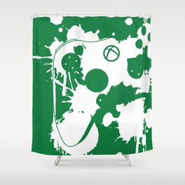 """Control"" - Reversed Shower Curtain"