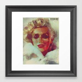 Marilyn Monroe Skeleton Framed Art Print