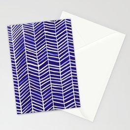 Herringbone – Navy & White Stationery Cards