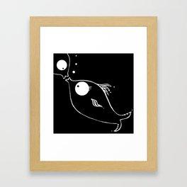 Immersed love Framed Art Print