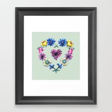 Lovely Flowers Green Framed Art Print