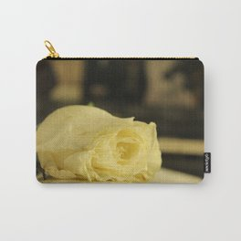 The White Rose Carry-All Pouch
