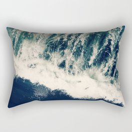 The Ocean Roars Rectangular Pillow