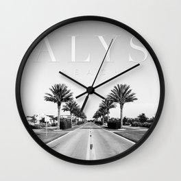 Alys Palms Wall Clock