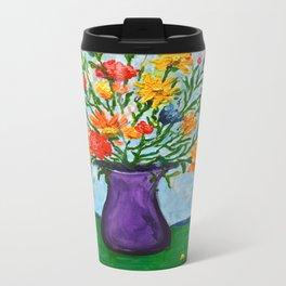 Hannah's Flowers Metal Travel Mug