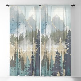 Misty Pines Sheer Curtain