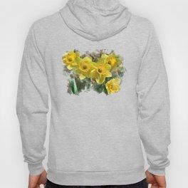 Watercolor Daffodils Hoody