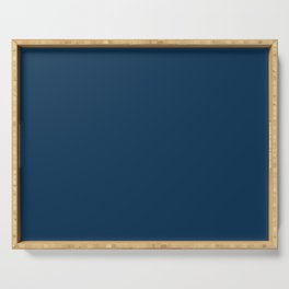 Prussian Blue Solid Color Serving Tray