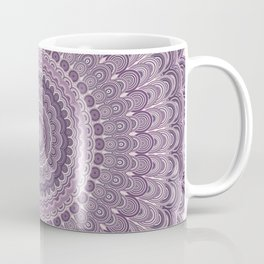 Purple feather mandala Coffee Mug
