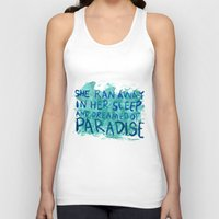 """coldplay Tank Tops featuring """"She Dreamed of Paradise""""-Coldplay by Fabfari"""