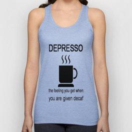 Depresso Unisex Tank Top