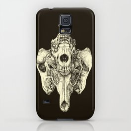 Coyote Skulls - Black and White iPhone Case