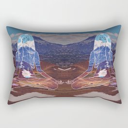 Mountain Meditation  Rectangular Pillow