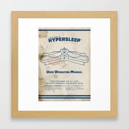 Hypersleep Chamber User Manual Framed Art Print