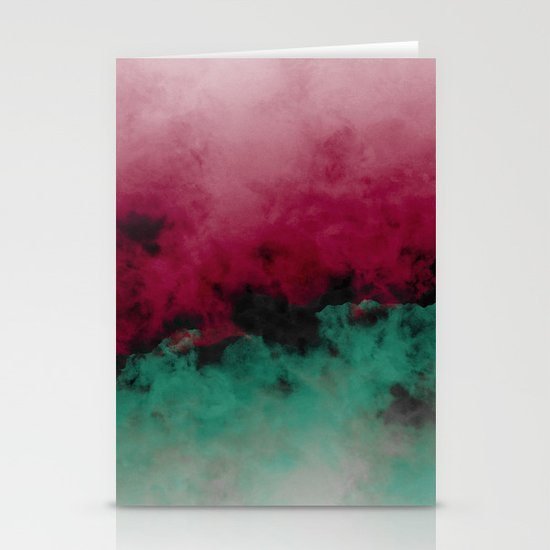 Zero Visibility Poinsettia Ombre Stationery Cards