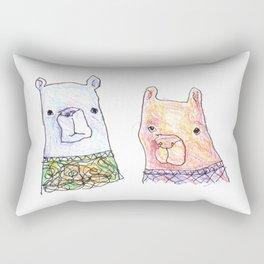 Backhand Bears Rectangular Pillow