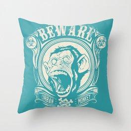 Urban monkey Throw Pillow