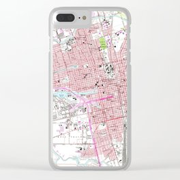 Vintage Map of Stockton California (1968) Clear iPhone Case