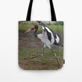 Saddle-billed Stork Tote Bag