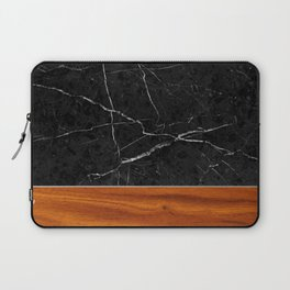 Marble and Wood Laptop Sleeve