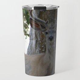 Mule-tail Deer, Buck in Velvet Travel Mug