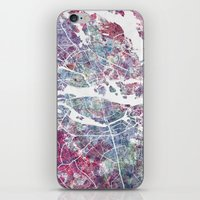 stockholm iPhone & iPod Skins featuring STOCKHOLM #2 by MapMapMaps.Watercolors
