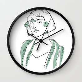 Flower Blossom Inside Me Wall Clock
