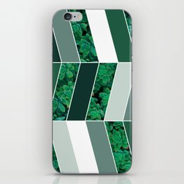 Green Herringbone #society6 #green #succulent iPhone Skin