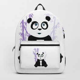 Panda Girl - Purple Backpack