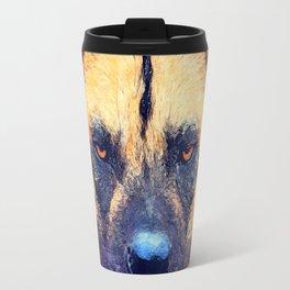 african wild dog #wilddog #animals Travel Mug