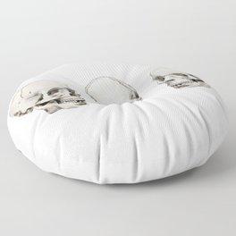 Three Skulls Floor Pillow
