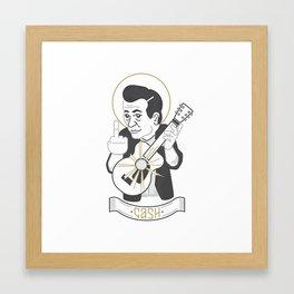 Saint Cash Framed Art Print