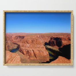 Early Morning At Horseshoe Bend Serving Tray